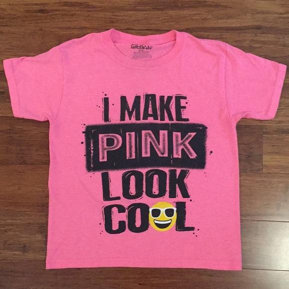 Gildan Other - I Make Pink Look Cool Emoji T-Shirt M (8)